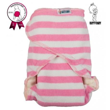 CHOBOTKA denní Katyv Baby, velikost 2 - Proužek růžový široký světlý