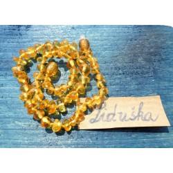 Jantarové korálky pro děti - Citronově žluté průsvitné