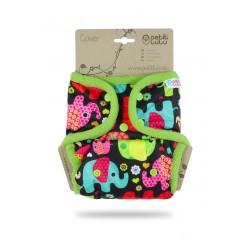 Svrchní kalhotky Petit Lulu SIO na patentky - Sloníci růžová