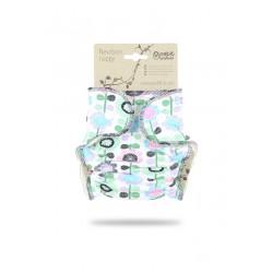 Novorozenecká plenka Petit Lulu na patentky - Květinová louka fialková