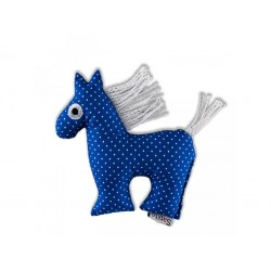 Koník Šapitó chrastítko - modrý puntík