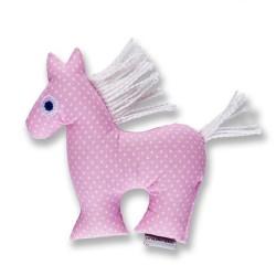 Koník Šapitó chrastítko - růžové puntíky