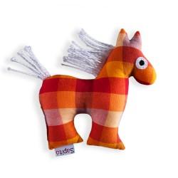 Koník Šapitó chrastítko - oranžový puntík