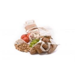 Sada z biobavlny Farmářský trh Tierra Verde (4 typy sáčků a taška)