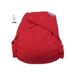Katyv Baby flísové svrchní kalhotky na patentky - Červené