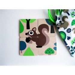 LITTLE FINGER - skládačka Veverka zelený pytlík