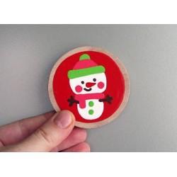 LITTLE FINGER - magnet vánoční Sněhulák