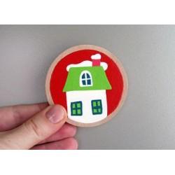 LITTLE FINGER - magnet vánoční Domeček
