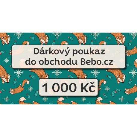 Dárkový poukaz na nákup za 1 000 Kč