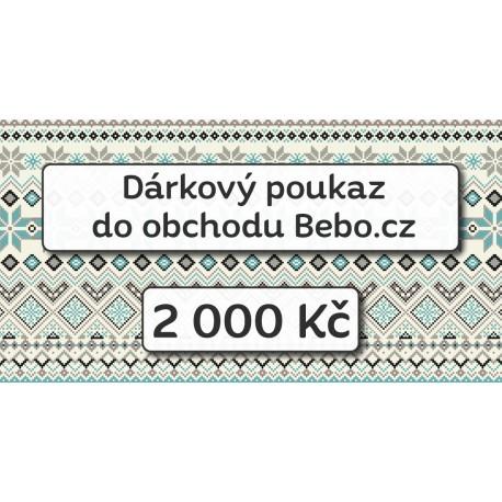 Dárkový poukaz na nákup za 2 000 Kč