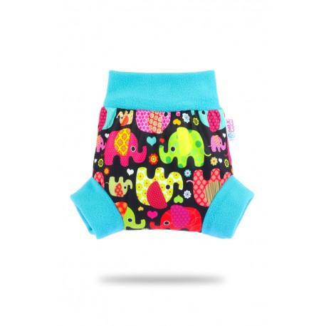 Pull-up svrchní kalhotky Petit Lulu - Sloníci růžová L