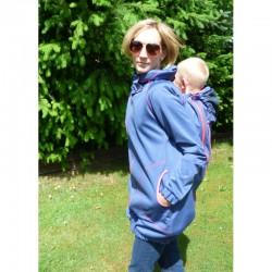 Made by Zuz Softshellová nosící bunda - blue denim - pink M