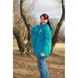 Made by Zuz Softshellová nosící bunda - smaragd fialová  M