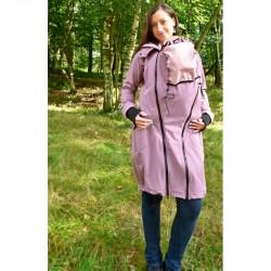 Made by Zuz Softshellový nosící kabát - starorůžový