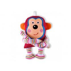 Opička Zahira Šapitó chrastítko - růžová