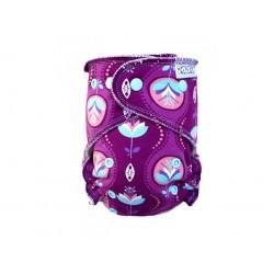 Novorozenecká kalhotková plena na suchy zip Breberky - Květy v kapce