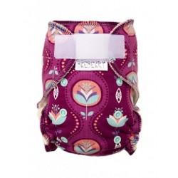 Kalhotková plena na suchý zip Breberky - Květy v kapce