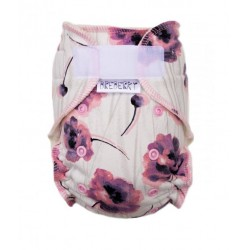 Kalhotková plena na suchý zip Breberky - Máky růžové