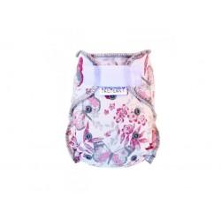 Kalhotková plena na suchý zip Breberky - Motýli růžoví