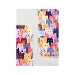 Breberky přebalovací podložka PUL - Kočky v divadle sv. žlutá