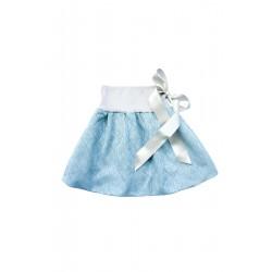 Loktu She Dívčí balónová sukně Bird Garden Blue Grey - vel. 2