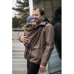 Loktu She Pánská bunda na nošení dětí - hnědý melír vel. S