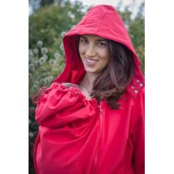 Loktu She Softshellový kabát na nošení děti - červený vel. 36