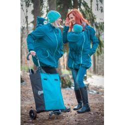 Loktu She Softshellový kabát na nošení děti - Petrolejový vel. 48