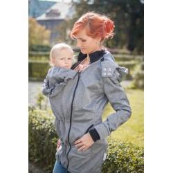 Loktu She Softshellový kabát na nošení děti - Šedý melír vel. 42