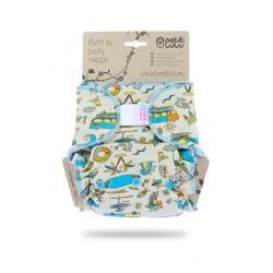 Kalhotková plena Petit Lulu na suchý zip - Aloha!