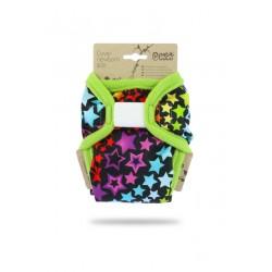 Novorozenecké svrchní kalhotky Petit Lulu - Duhové hvězdy