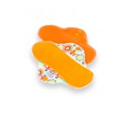 Petit Lulu látková vložka STANDARD (fleece) - Květinová louka oranžová