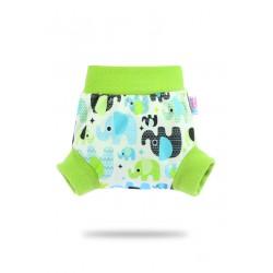 Pull-up svrchní kalhotky Petit Lulu - Sloníci (tyrkys) XS