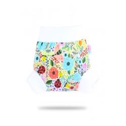 Pull-up svrchní kalhotky Petit Lulu - Rozkvetlá zahrada XS