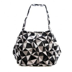 Taška dezénová Bamboolik - Šedý trojúhelník