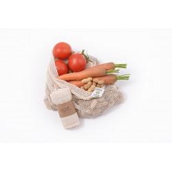 Síťový sáček z biobavlny na ovoce a zeleninu - střední (38 × 30 cm) Tierra verde