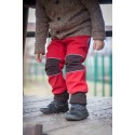 Loktu She Softshellové kalhoty - červená, hnědá