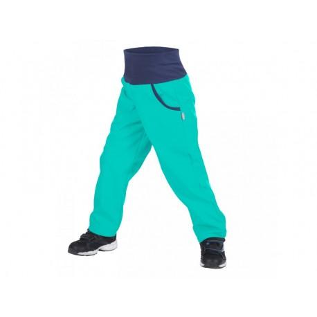 Unuo Softshellové kalhoty s fleecem vel. 116/122 - Světle smaragdové