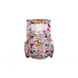 Breberky novorozenecká kalhotková plena na patentky - Květy, růžové