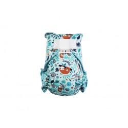 Breberky kalhotková plena na suchý zip - Lenochod modrý