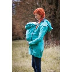 Loktu She Softshellový kabát na nošení děti - Jezerní modrá vel. 40