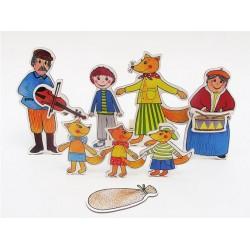 Marionetino BUDULÍNEK figurky 7 ks