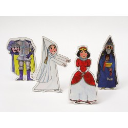 Marionetino KRÁLOVSKÁ A BÍLÁ PANÍ figurky 4 ks