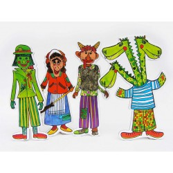 Marionetino STRAŠIDLA, DRAK figurky 4 ks