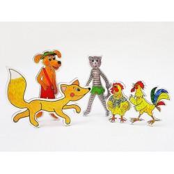 Marionetino ZVÍŘÁTKA A LIŠKA figurky 5 ks