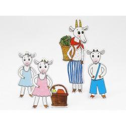 Marionetino KOZA S KŮZLATY figurky 4 ks