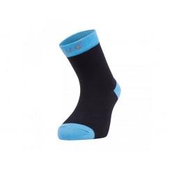 Unuo bambusové ponožky černé s tyrkysovou- vel. 33,5/35