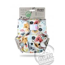 Petit Lulu kalhotková plena Fluffy Organic na SZ - Hravé koaly