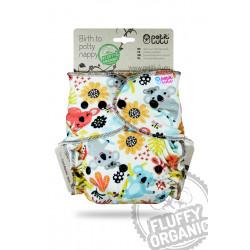 Petit Lulu kalhotková plena Fluffy Organic na patenty - Hravé koaly