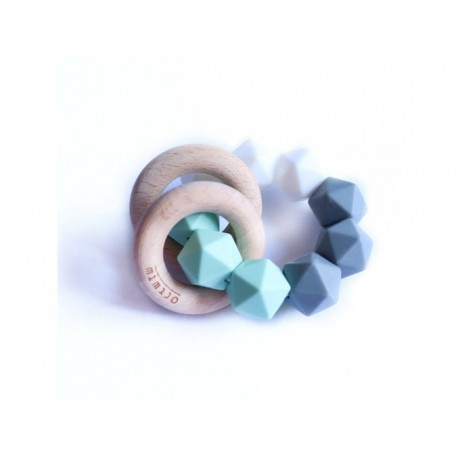 Mimijo silikonové kousátko chrastící 2v1 - Claudio